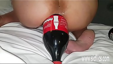 Giant Anal Cola Bottle Fucked Amateur