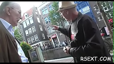 Aroused lad takes a trip in the amsterdam redlight district