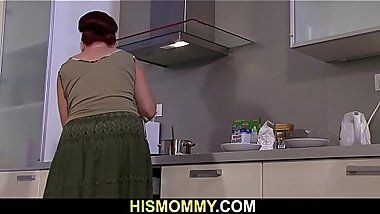 His redhead mom licks young pussy