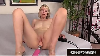 British GILF Jamie Foster Experiences a Perfect Machine Delivered Orgasm