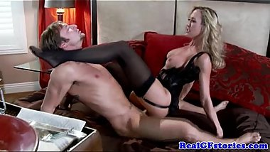 Real housewife fucks and sucks his cock