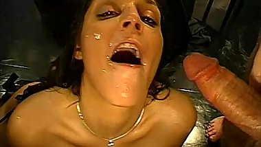 Facial ejaculation fiesta