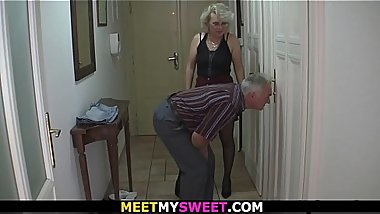 Old couple trick son'_s GF