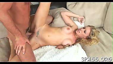 Teen gal undresses and touches her clean hairless muff