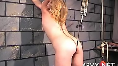Naughty amateur clip scene with girl enduring pussy stimulation