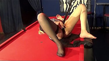 Amazing 44 year old slutty mom sucks and fucks on the pool table