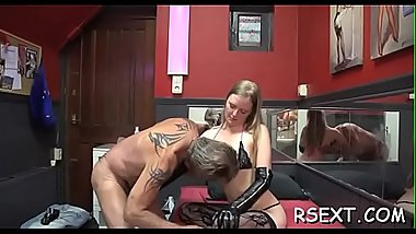 Big titted hooker gets shaved snatch fucked in lots of positions