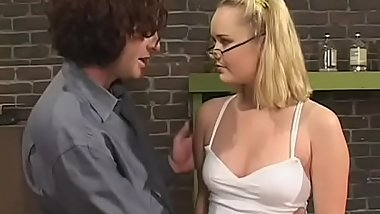 Sweltering hottie with big lips gets fucked hard in doggystyle