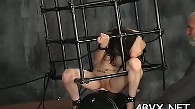 Amateur servitude xxx pussy play with coarse toys