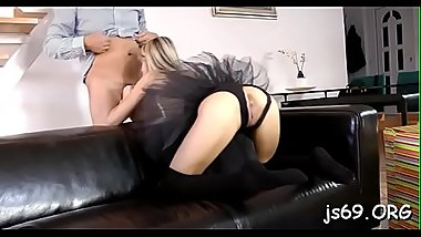 Amateur honey enjoys a fuck session with an mature dude
