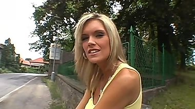 Charming public oral pleasure