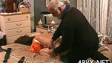 Extreme bondage with hot mama and young daughter