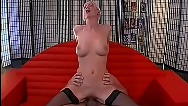 Lusty men are spraying their cumshots into babe'_s face hole