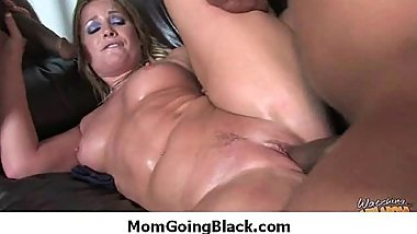 Black dick stuffed in my moms pussy 11